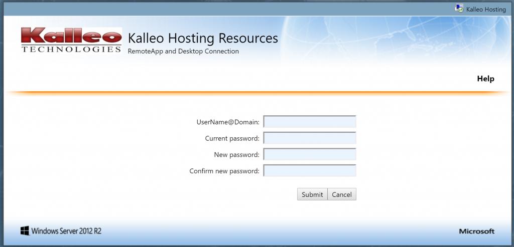 Kalleo Hosting Password